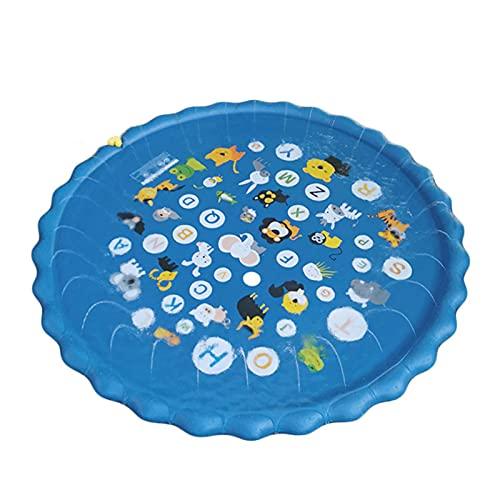 ABCSS Splash Pad Almohadilla de Aspersión Alfombra Juegos Piscina,Verano Juguete para Niños Pulverización para Actividades Familiares Aire Libre Fiesta Playa