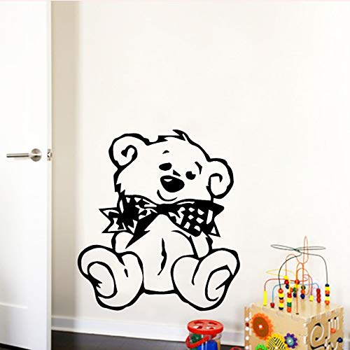 mlpnko Smile Bear Wandaufkleber Niedlicher Tierbär Wandaufkleber Wasserdichtes Vinyl Wandtattoo für Kinderzimmer,CJX10813-30x33cm
