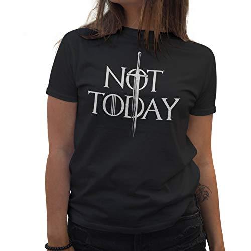 Lapi Boutique Not Today Arya Stark Camiseta de Mujer