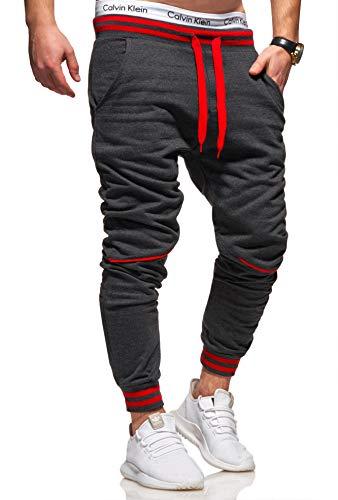 Ombre-Eight Herren Jogginghose Trainingshose Sporthose T-411 [Dunkelgrau, L]