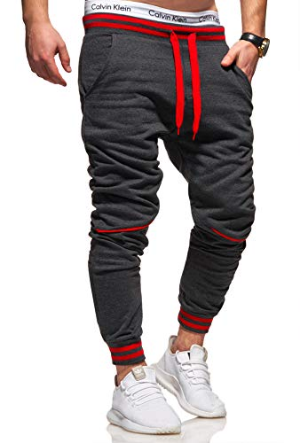 Ombre-Eight Herren Jogginghose Trainingshose Sporthose T-411 [Dunkelgrau, L]