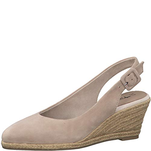 Tamaris Damen Pumps 29613-24, Frauen Keilpumps, leger Keilabsatz Wedge-Pumps absatzschuh weibliche Lady Ladies Women,Ivory,36 EU / 3.5 UK