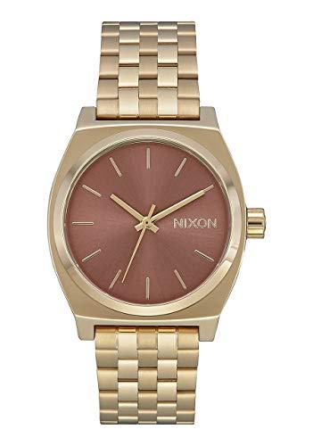 Nixon Unisex Erwachsene Analog Quarz Uhr mit Edelstahl Armband A1130-3006-00