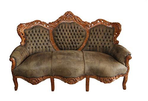 Barock Sofa 'King' Braun/Braun - Möbel Wohnzimmer