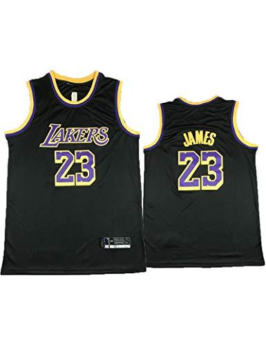Kfdfns Maillot de Baloncesto NBA Lakers Lebron James # 23 para Hombre, Maillot Swingman, Tela Bordada, Transpirable y Secado Rápido