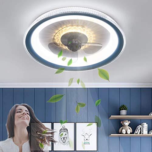 Ventilador de techo para habitación de niños Ventilador de techo LED con ventilador de iluminación Luz de techo Ventilador ultra silencioso Lámpara de techo Ventiladores regulables Luz de techo