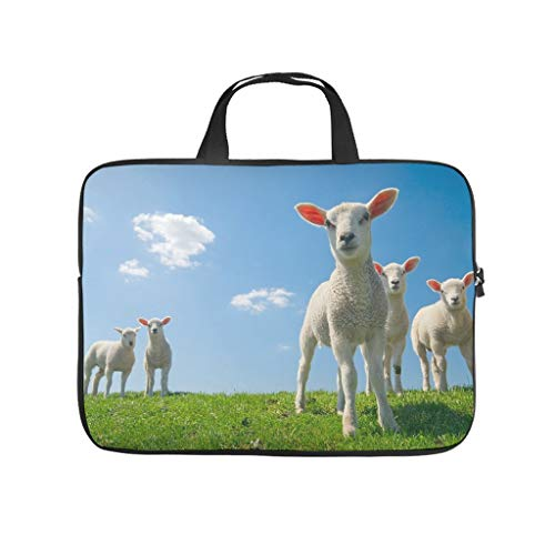 Grass Sheep Laptop Computer And Tablet Carrying Case Bag Waterproof Portable Laptop Sleeve For Men And Women white 12 zoll