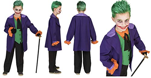 Funny Fashion Joker Kostüm Halloween Kinderkostüm Gaukler Horror Kinder