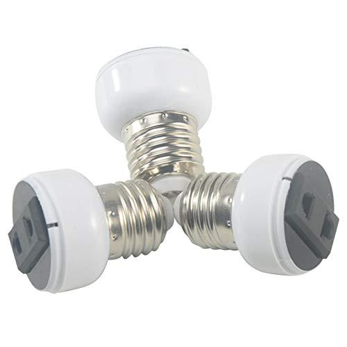 Portalámparas E27, adaptador de casquillo E27, accesorio para enchufe de lámpara, ABS...