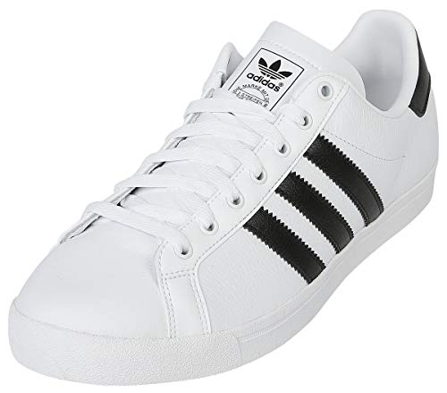adidas Herren Coast Star Sneaker, Weiß (Footwear White/Core Black/Footwear White 0), 42 EU