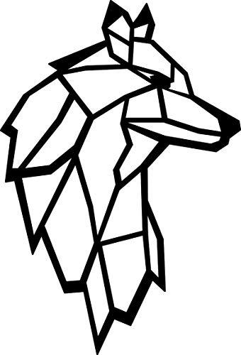 Hansmeier® Wanddeko aus Metall | 38 x 55 cm | Wasserfest | Für Außen, Innen, Balkon & Garten | Metalldeko | Deko Industrial | Motiv Wolf