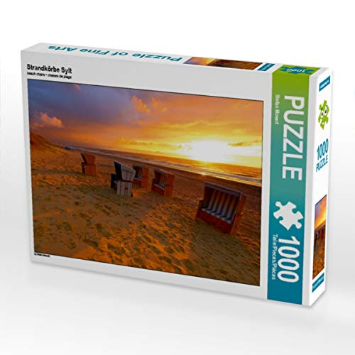CALVENDO Puzzle Strandkörbe Sylt 1000 Teile Lege-Größe 64 x 48 cm Foto-Puzzle Bild von Stefan Mosert