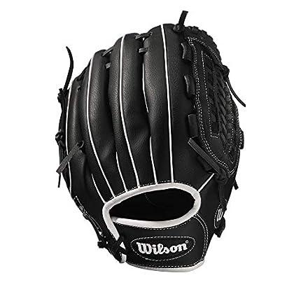 """Wilson WTA03RS1713 Guante de béisbol A360 Slowpitch Diestro Piel de porcino, Negro, 13"""""""
