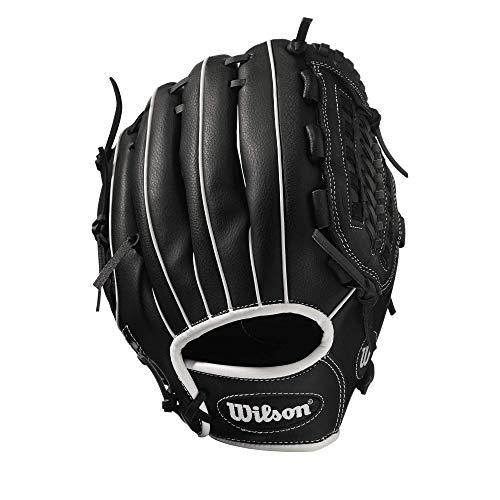 Wilson Unisex-Adult A360 SLOWPITCH 14 Baseball/Softball Gloves, Black/Grey