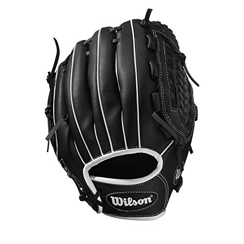 Wilson Unisex-Adult A360 SLOWPITCH 13 Baseball/Softball Gloves, BLACK/GREY,