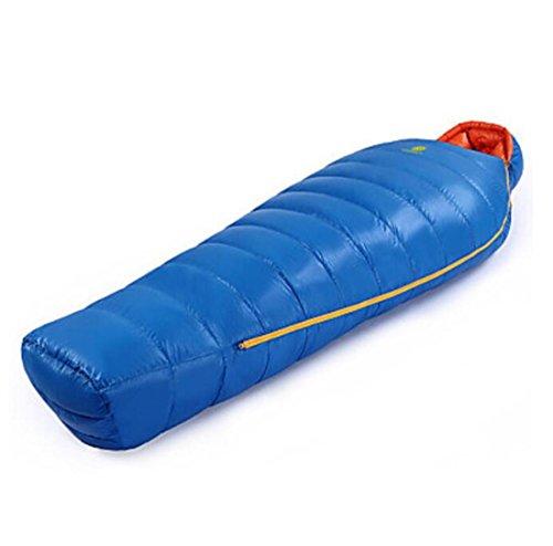 Sac de couchage Garder au chaud Pare-vent Compression Ultra léger (UL) Chasse Randonnée Camping Voyage Extérieur Intérieur Hiver , royal blue