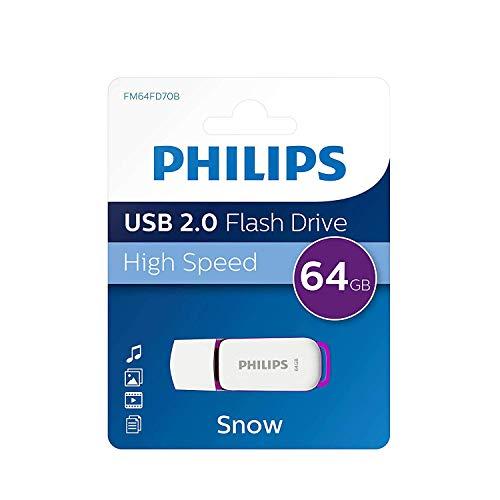 Philips Pen Drive 64gb USB 2.0 FM64FD70B pendrive chiavetta chiavina pennina ad altà velocità 64 gb con capuccio e portachiavi
