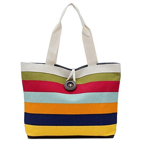 JIKLLSJID Eco-Bag Warenkorb tägliche Tragetasche Farbe Leinwand Streifen Contra Supermarkt wasserdicht eco Beutel für das Auto (Color : Gray)