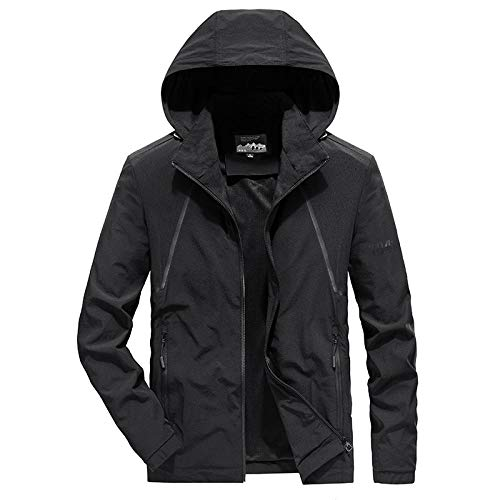 Men's Outdoor Jacket Winter Coat With Stretch casual jacket-black_3XL