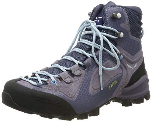Salewa Damen WS Alpenviolet Mid Gore-TEX Trekking-& Wanderstiefel, Grisaille/Ethernal Blue, 37 EU