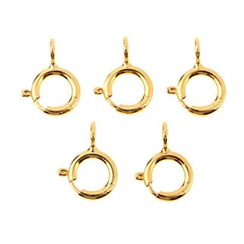 dailymall 5pcs Spring Rings Verschlüsse Jewelry Making Connectors Verschlüsse 5mm - Gold