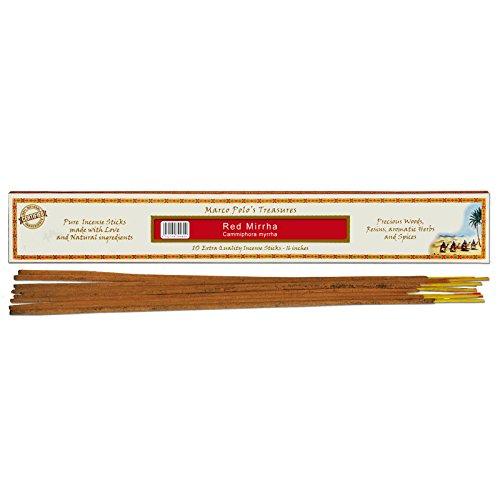 Fiore d 'oriente 100% Naturelle Rouge mirrha Extra Long de bâtonnets d'encens, en Bambou, Multicolore