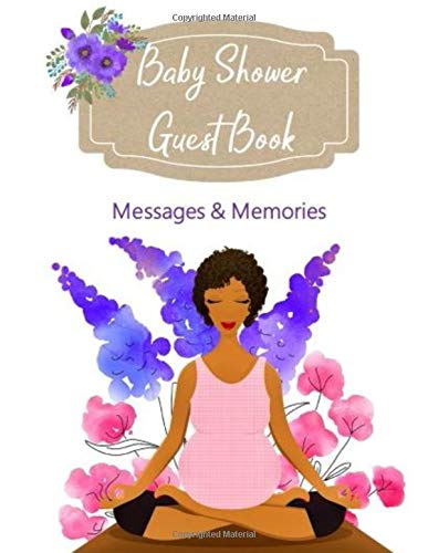 Baby Shower Guest Book | Messages and Memories: BONUS Reflection Journal & Baby Checklist for Mommy (Yoga Baby)
