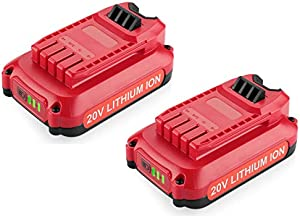 ANTRobut 2Pack 3.0Ah 20V Lithium Battery Replacement for Craftsman 20V Battery CMCB204 CMCB202 Compatible with Craftsman V20 20V Max Cordless Power Tools
