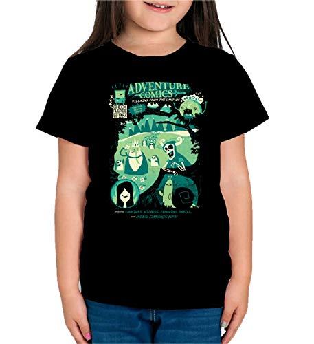 The Fan Tee Camiseta de NIÑAS Hora de Aventuras Jake Finn 006 11-12 años