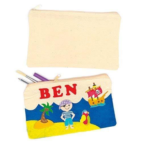 Baker Ross Stoff-Federmäppchen - für Kinder zum Dekorieren - Aufbewahrung Schreibwaren - 5 Stück