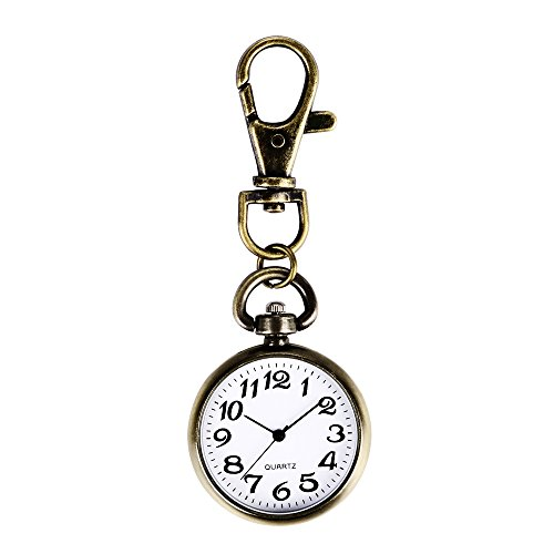 ALIENWOLF Vintage Round Classical Pocket Key Chain Watch Pendant