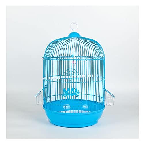 OMING Jaulas para pájaros Gran Hierro Forjado Birdcage Thrush BudgeGar Birdcage Lark Starling Cría Jaula Pequeño Birdcage 25 Jaula de pájaros de Metal (Color : C)