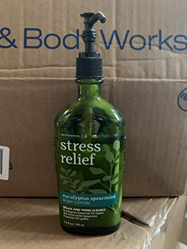 Bath & Body Works Aromatherapy Stress Relief - Eucalyptus + Spearmint Body Lotion, 6.5 Fl Oz
