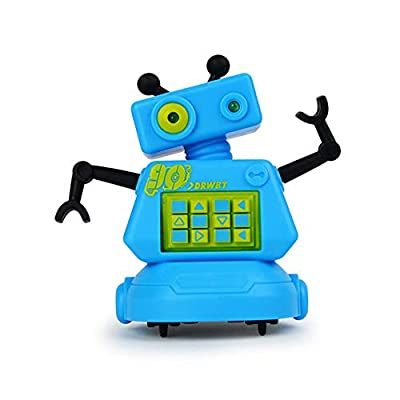 PintreeLand Magic Inductive Robot Toy Follow Black Line Robot Eye with LED Light Educational Toys for Kids Children
