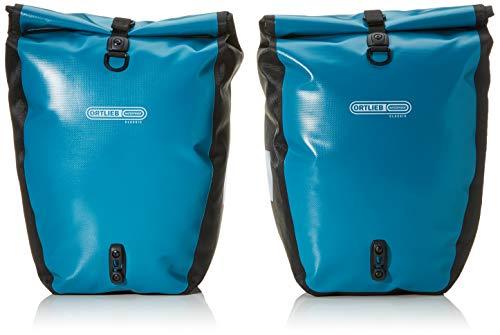 Ortlieb Unisex-Adult Back-Roller Classic QL2.1 Packtaschenset Radtaschen Travel, Petrol-schwarz 2X 20 l, One Size