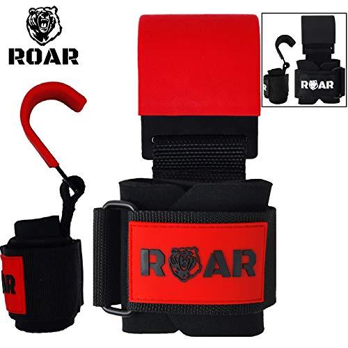 Roar® Ganchos de Metal para Levantamiento de Peso con...