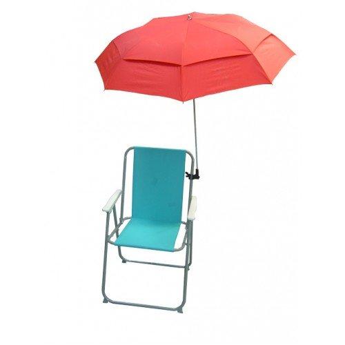 EazyShade Sonnenschirm für UV Schutz für Liegestühle - rot (1 Stück)