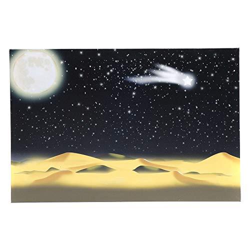 Fondale Luna e Cielo Stellato Illuminato LED 40x60 cm