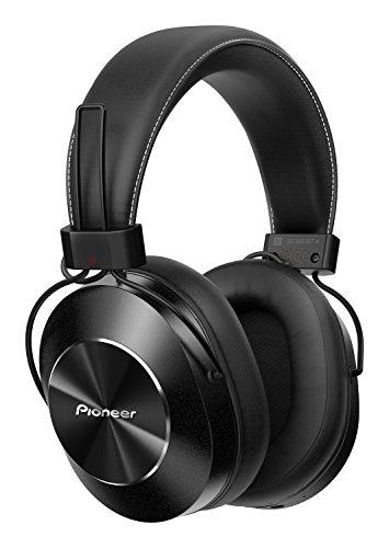 Pioneer SE-MS7BT(K) Bluetooth Over-Ear Kopfhörer (Mikrofon, High-Res Audio, NFC, 12 Stunden Wiedergabe, hoher Tragekomfort, für Smartphone, Tablet, Hifi Anlage, Aluminium Design), Schwarz