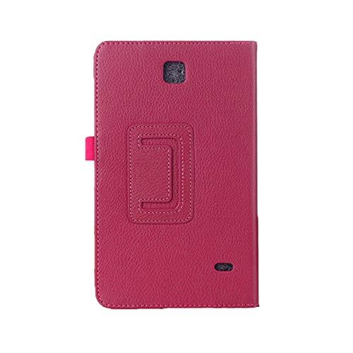 Funda para Samsung Galaxy Tab 4 7.0 T230 T231 T235 Funda de Cuero Funda para Samsung Tab4 7.0 SM-T230 SM-T231 Funda-Rosa