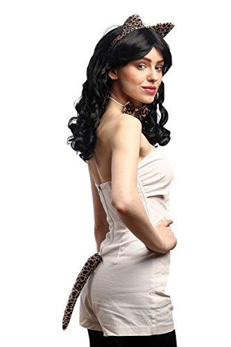 Dress Me Up - HBN-0054-tiger Karneval Halloween Set Ohren Schwanz Fliege Katze Raubkatze Kätzchen Leopard Leopardenmuster