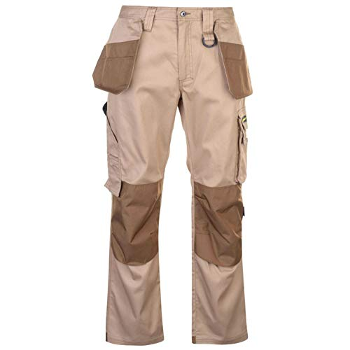 Dunlop Herren On Site Cargo Safety Arbeitshose Hose Mit Taschen Arbeitskleidung Beige XX Large