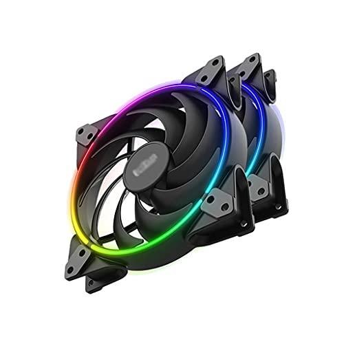 Ventilador Aficionado de la caja estándar de 120 mm de la caja del ventilador de refrigeración silenciosa del ventilador para la caja de la PC y el fanático de la caja del enfriador de CPU para la com