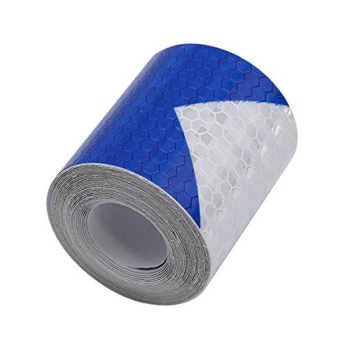 ODN 3M Pfeil Reflektierende Band Selbstklebende Warnung Reflektor Streifen Aufkleber (Blau-weiß)