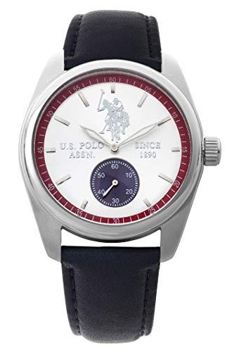 US Polo Association Reloj Analógico para Hombre de Cuarzo con Correa en Cuero USP4368ST