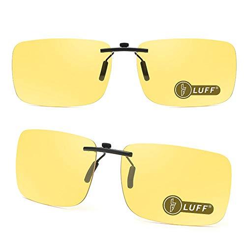 LUFF 2 stuks zonnebrilclips en nachtkijkers Super lichtgewicht clips zien er klassiek unisex uit