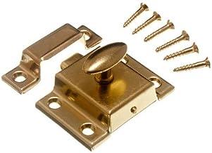 CUPBOARD TURN CATCH LATCH 50MM EB BRASS geplaatst met schroeven (pak van 100)