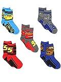 Disney Cars 3 Boys Toddler 5 pack Crew Socks (Shoe: 7-10 (Sock: 4-6), Grey/Multi Crew)
