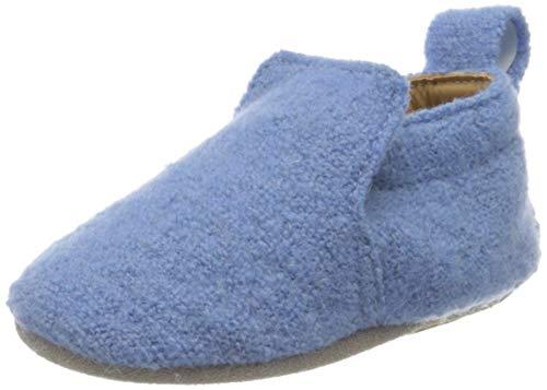 Haflinger Unisex Baby Lauflernschuh Hafli Hausschuhe, Blau (Hellblau 56), 17 EU