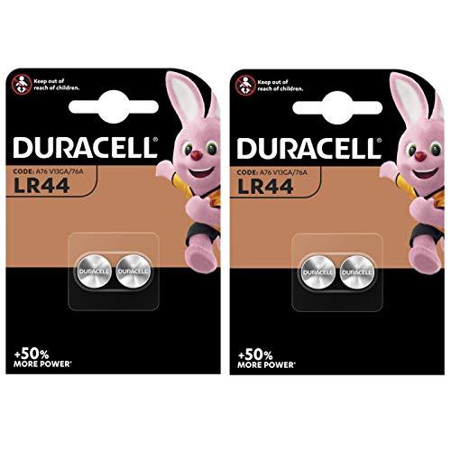 Duracell Spezialität Typ LR44 Alkaline-Knopfzellen 4er-Pack